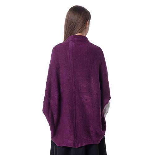 New For Season- Purple Colour Shrug (Size 103x36 Cm)