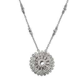 Diamond (Rnd and Bgt) Necklace (Size 18) in Platinum Overlay Sterling Silver 0.75 Ct, Silver wt 5.60