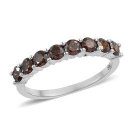 0.75 Ct Red Diamond Half Eternity Ring in 9K White Gold SGL Certified i2-i3