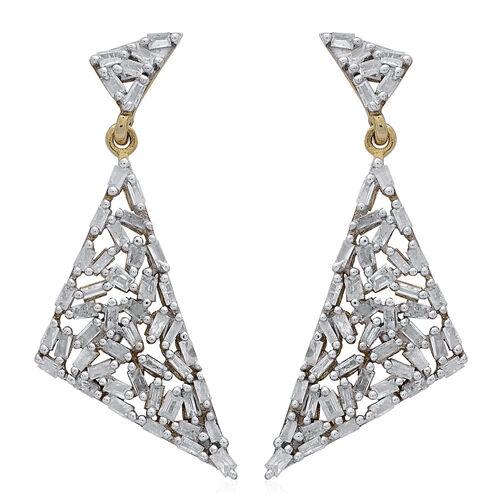 GP Diamond (Bgt), Kanchanaburi Blue Sapphire Earrings (with Push Back) in 14K Gold Overlay Sterling Silver 1.000 Ct.
