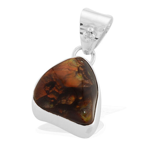 Fire Agate Sterling Silver Pendant 25.000 Ct.