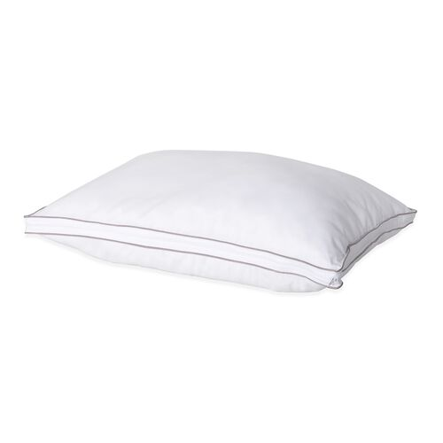 White Down Core HYBRID Pillow With Hollowfiber Filled Cover (Size 70x50 Cm)