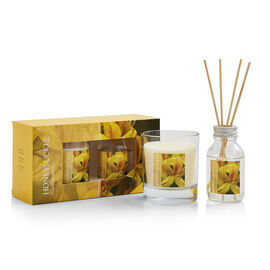 WAX LYRICAL 2 Piece Set - Honeysuckle Reed 100 ml Diffuser & 190g Candle Gift Set