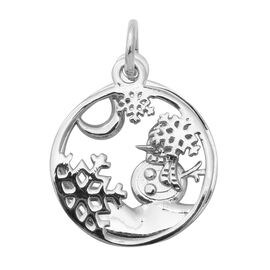 Thai Sterling Silver Snow Theme Pendant