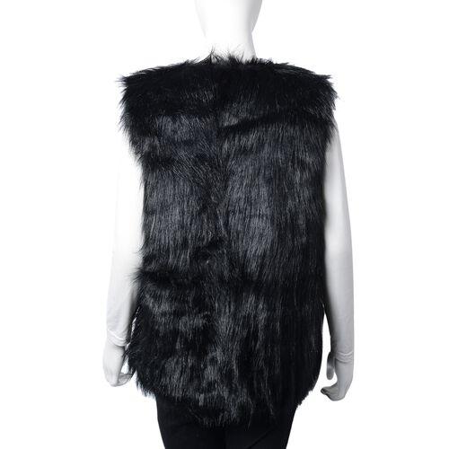 Black Colour Faux Fur Gilet (One Size Fits all)