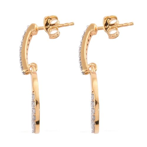 Natural Cambodian Zircon Earrings (with Push Back) in Gold Plated Silver 3 Carat