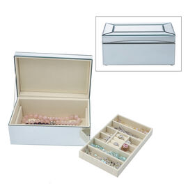 2-Tier Glass Mirrored Jewellery Box