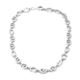 Swirl Link Necklace in Silver 40.09 Grams 21 Inch