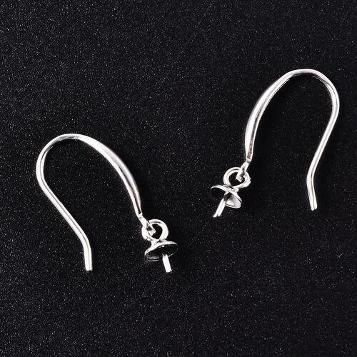 Rhodium Overlay Sterling Silver Earring Hook