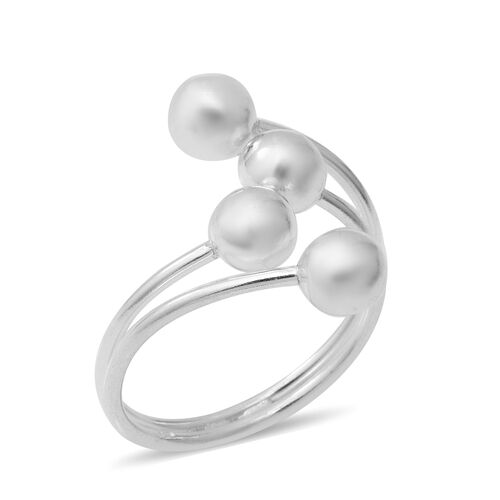 Adjustable Bypass Ring in Sterling Silver 4.15 Grams