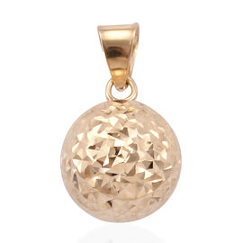 Royal Bali Collection 9K Yellow Gold Diamond Cut Ball Pendant