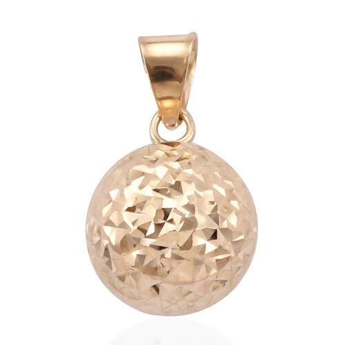 Royal Bali Collection 9K Yellow Gold Diamond Cut Ball Pendant