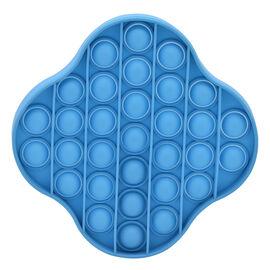 Push Bubble Stress Relieving Flower Fidget for Adults/Children in Blue (11.5x11.5cm)