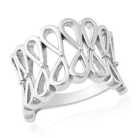 LucyQ Knot Ring in Rhodium Plated Sterling Silver
