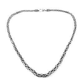Royal Bali Borobudur Chain Necklace in Sterling Silver 77.52 Grams