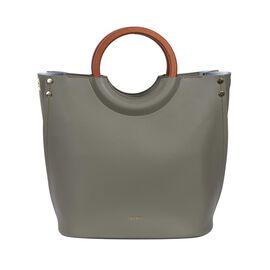 Inyati Viviana Ring Grab Handle Tapered Bag (Size 26x30x16 Cm) - Olive Grove