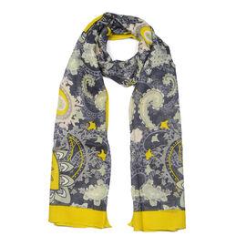 Jacquard Print Scarf (Size 180x50 Cm) - Yellow
