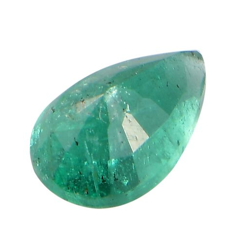 AA Emerald Pear 7.1x5.4 Faceted 0.80 Cts