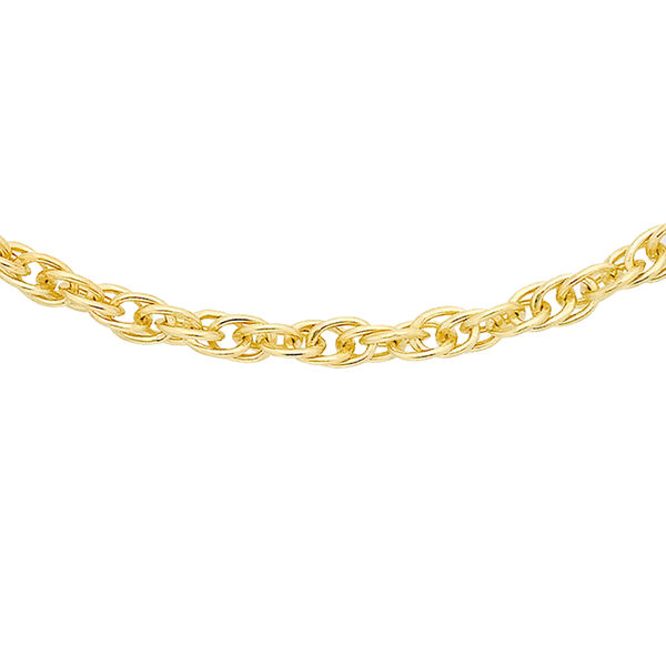 9K Yellow Gold Twisted Curb Chain (Size 20) with Spring Ring Clasp