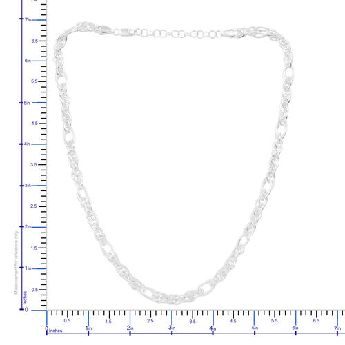 Artisan Crafted Sterling Silver Fancy Prince of Wales  Necklace (Size 18 with 2 inch Extender), Silver Wt 36.70 Gms