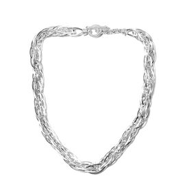Sterling Silver Prince of Wales Necklace (Size 20), Silver wt 86.91 Gms