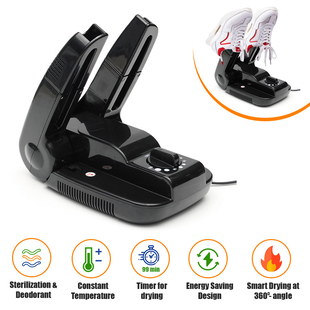 Portable and Foldable Electric Shoe Dryer (Size 28x18x9Cm) - Black