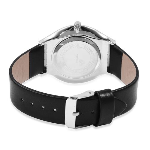 STRADA Slimline Japanese Movement Silver Colour Plated Water Resistant Watch
