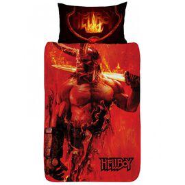 Hellboy Single Duvet Cover (Size 135x200 Cm) and Pillowcase (Size 49x74 Cm) Set