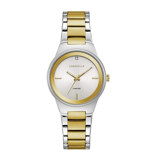 CARAVELLE Womens Gold and Silver Two-Tone Bracelet Watch