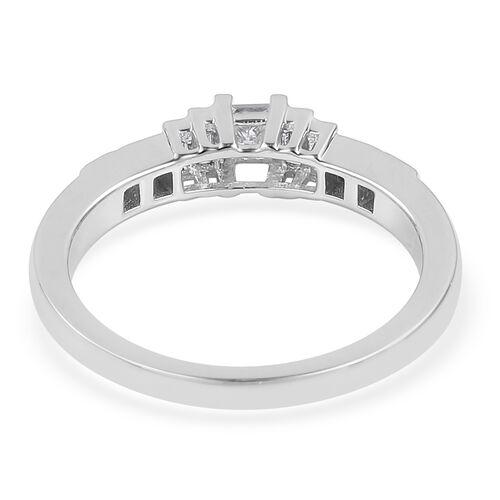 RHAPSODY 950 Platinum IGI Certified Diamond (Princess) (VS/E-F) Ring 0.500 Ct., Platinum wt 5.83 Gms.