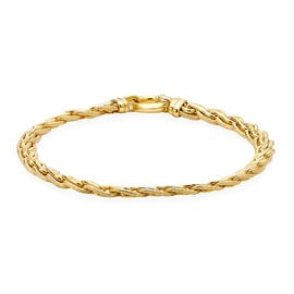 Italian Made Fancy Diamond Cut Bracelet in 9K Gold 7.30 Grams