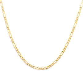Italian Made - 9K Yellow Gold Figaro Necklace (Size 18)