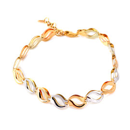 JCK Vegas Close Out - 9K Yellow and White Gold Bracelet (Size 7 with 1 inch Extender), Gold wt 5.17