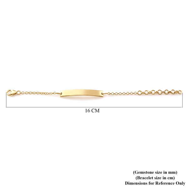 14K Gold Overlay Sterling Silver Bracelet (Size 6)