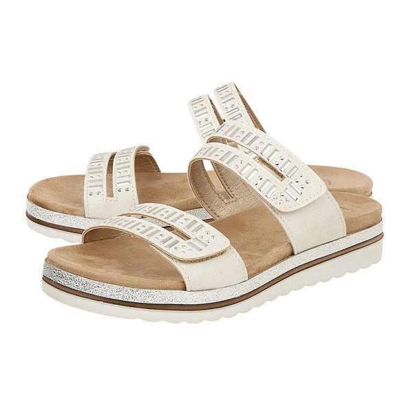 Lotus Halley Flat Mule Sandals (Size 5) - Beige