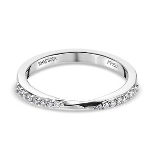 RHAPSODY 950 Platinum IGI Certified (VS/E-F) Diamond Band Ring 0.14 Ct.