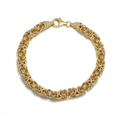 Viale Argento Yellow Gold Overlay Sterling Silver Byzanite Bracelet (Size 7.5)