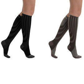 Set of 2 - SANKOM SWITZERLAND Patent Socks - Grey and Black
