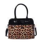 Brown Leopard Print Handbag (32x25x13cm) with Detachable and Adjustable Shoulder Strap (L: 120cm)