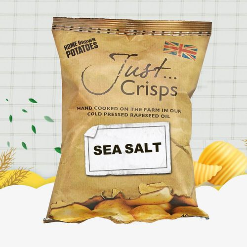 Just Crisps 12 x 150g Classic Big pack 4 Sea Salt, 4 Cheese & Onion, 4 Salt & Vinegar