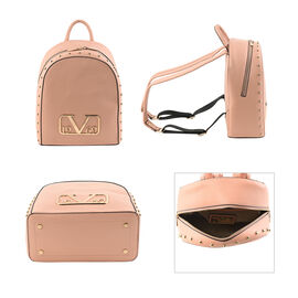 19V69 ITALIA by Alessandro Versace Backpack Bag with Zipper Closure (Size 25x30x12Cm) - Peach