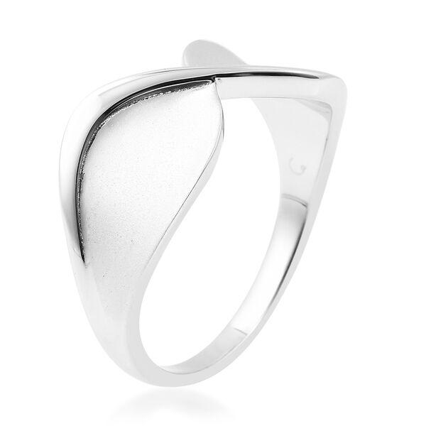 RACHEL GALLEY Sandblast Collection  Rhodium Overlay Sterling Silver Infinity Design Ring