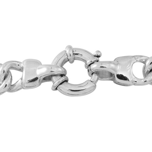 Limited Available-Vicenza Collection-Sterling Silver Leopard Head Linked Curb Necklace (Size 20), Silver wt. 46.00 Gms.