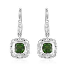 RACHEL GALLEY Majestic Collection Russian Diopside (Cush), Burmese Ruby Hook Earrings in Rhodium Ove