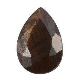 A Chocolate Sapphire Pear 6x4mm - 0.51 Ct.