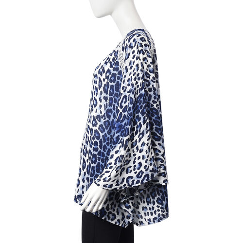 Leopard Pattern One Size Fits All Apparel (Size 67x70 Cm) - Navy and White