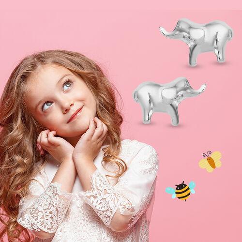 Children Elephant Earrings in Sterling Silver
