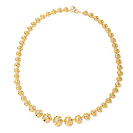 Rachel Galley Art Deco Collection - Yellow Gold Overlay Sterling Silver Necklace (Size 20), Silver w