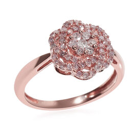 9K Rose Gold Natural Pink Diamond (Rnd) Ring 0.500 Ct.