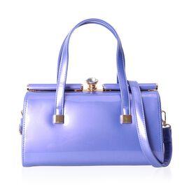 HONG KONG CLOSE OUT DEAL Lilac Colour Tote Bag with Detachable Shoulder Strap (Size: 28x14x15 Cm)